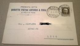PREMIATA DITTA BONOTTO PIETRO ANTONIO E FIGLI  S. POLO DI PIAVE   VIAGGIATA 1930   (577) - Pubblicitari