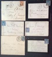 13 Charente Inférieure Recommandé Rochefort Sur Mer + Cozes + Royan + La Rochelle Sage 40c Et 25c Et 15c - 1877-1920: Période Semi Moderne