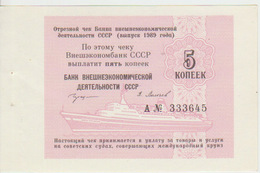 Russia 5 Kopeks 1989 Pick FX141? UNC - Russia