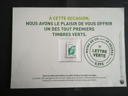 Timbre Vert France Un Des Premiers - Stamps