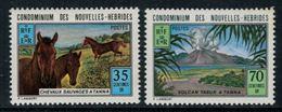 Nouvelles Hébrides // 1960-1980 // 1973 // Tourisme Timbres Neufs** MNH No. Y&T 370-371 - Légende Française