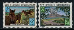 New Hebrides // 1960-1980 // 1973 // Tourisme Timbres Neufs** MNH No. Y&T 372-373 - Légende Anglaise
