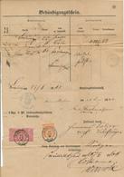 CRIMMITSCHAU - 1868 , Behändigungsschein Mit Insuationsgebühren - Nach Limbach - Norddeutscher Postbezirk
