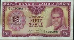 ZAMBIA - 50 Ngwee Nd.(1969) Fine+ P.9 B - Zambia