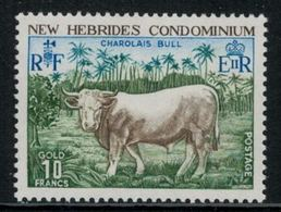 New Hebrides // 1960-1980 // 1975 // Taureau Timbres Neufs** MNH No. Y&T 409 - Légende Anglaise