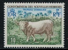 Nouvelles Hébrides // 1960-1980 // 1975 // Taureau Timbres Neufs** MNH No. Y&T 408 - Légende Française