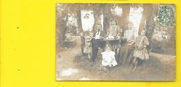 RAUZAN Carte Photo Famille (Nizeau) Gironde (33) - France