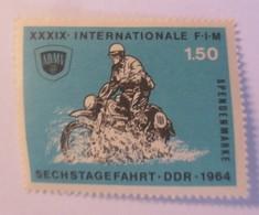 Vignetten, Marke Postfrisch, Motorrad Sechstagefahrt, DDR 1964   ♥ (9694) - Motorbikes
