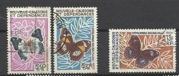 Nouvelle Calédonie N° 342 à  344 Papillons    Oblitérés  B/TB      Soldé à Moins De 20 %  ! ! ! - Gebraucht