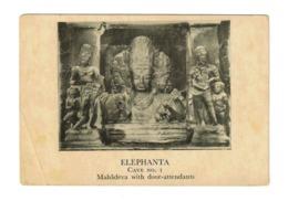 Trimurti Of Lord Shiva ( Mahadeva ) With His Door Attendants At The Elephanta Cave Temples, Mumbai, India, Lot # IND 596 - India