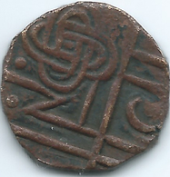 Bhutan - ½ Rupee / Ma-tam - Period III (1835-1910) - KM15 - Conch & Knot - Bhutan
