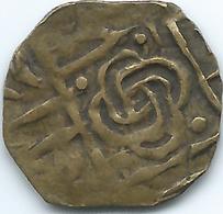 Bhutan - ½ Rupee / Ma-tam - Period III (1835-1910) - KM15.2 - Knot - Brass Coin - Bhutan