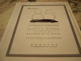 ANCIENNE PUBLICITE VOITURE NOUVEAU MOTEUR 85 RENAULT 1935 - Voitures