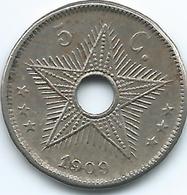 Belgian Congo - Leopold II - 1910 - 5 Cents - KM12 - Belgisch-Kongo & Ruanda-Urundi
