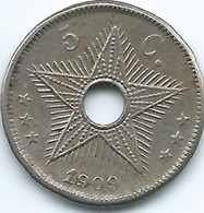 Belgian Congo - Leopold II - 1910 - 5 Cents - KM12 - Congo (Belge) & Ruanda-Urundi