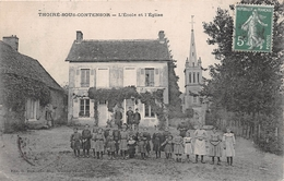 ¤¤   -   THOIRE-sous-CONTENSOR   -  L'Ecole Et L'Eglise    -   ¤¤ - Altri Comuni