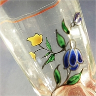 * VERRE EMAILLE A LIQUEUR  - Alcool Liqueur Fleur Bistrot - Glasses