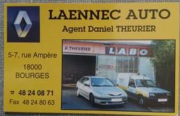 Petit Calendrier De Poche 1995 - Laennec Auto Agent Renault - Voitures - Format Carte Bleue - Calendriers