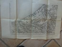 Carte Abbeville 80 Somme Etalondes Avesnes Les Ifs Intraville Douvrend Neuville Bracquemont Grèges Grény - Cartes Topographiques