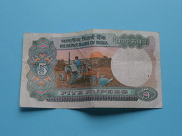 5 ( Five ) RUPEES : 16M 193228 ( Reserve Bank Of India ) ! - Inde