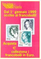 [MD3178] CPM - POSTE ITALIANE FILATELIA - ACQUISTA E COLLEZIONA I FRANCOBOLLI IN EURO - Non Viaggiata - Timbres (représentations)