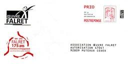 PAP Marianne De Ciappa & Kawena: Association Oeuvre Falret (151359 Au Verso) - Postal Stamped Stationery