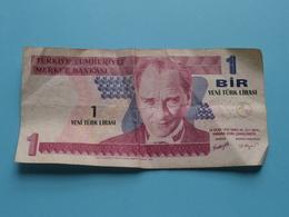 1 BIR Yeni Türk Lirasi : 14 Ocak 1970 > A45 171268 ( Türkiye Cumhuriyet Merkez Bankasi ) ! - Turquie