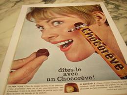 ANCIENNE PUBLICITE DITES LE CHOCOREVE 1964 - Affiches