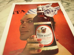 ANCIENNE PUBLICITE  RHUM NEGRITA 1964 - Alcools