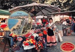CANNES - Carte Parfumée De Luxe Vallazur - Parfum Oeillet De Fragonard, Grasse - Bande Imprimée Déchirée - Marché Fleurs - Cannes