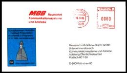 Bund / Germany: Stempel 'MBB - Raumfahrt - Ariane-5, 1989' / Cancel 'Space Industries', 7108 Möckmühl - Covers & Documents