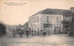 """SAINT-GERMAIN-de-la-COUDRE   -  Route De Fresnay-sur-Sarthe   -  Café """" GAUDINIERE """" - France"""