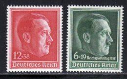 Allemagne Empire 1938 Yvert 607 - 613 ** TB Bord De Feuille - Allemagne