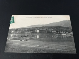 GROSLÉE Panorama Du Port De Groslée - 1912 Timbrée - France