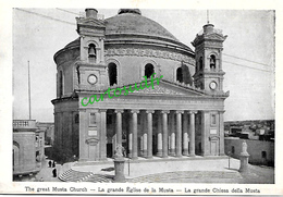 MALTE - VUE ANCIENNE - LA GRANDE EGLISE DE LA MUSTA - Malte