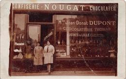 """LILLE  - Carte-Photo De La Confiserie """" Jean-Donat DUPONT """" 32 Rue Lepelletier - Annuaire Gratuit 1933 Page 1376 - Lille"""