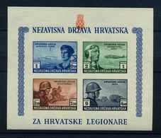 KROATIEN 1943 Bl.5B Postfrisch (108619) - Kroatien
