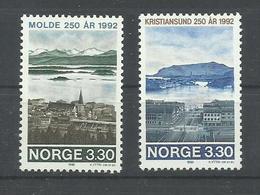 NORUEGA YVERT 1055/56   MNH  ** - Noruega