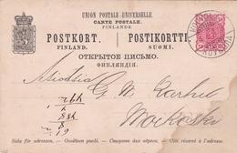 Finland 1891 Kouvol 10 Pen Postikortti - Finlande
