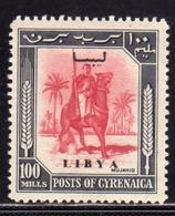LIBIA LIBYA 1951 REGNO INDIPENDENTE EMISSIONE PER LA CIRENAICA CYRENAICA 100m MLH - Libia