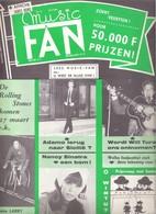 MUSIC FAN  NR 61 VAN 10 MAART 1966 - ADAMO - WILL TURA - NANCY SINATRA - JOHN LARRY - NEDERLANDS  (MF 61 ) - Tijdschriften