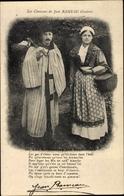 Cp Les Chansons De Jean Rameau Illustrees, Les Amitiances Des Berrichons - Costumes