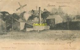 44 St Etienne De Mer Morte, Cp Pionnière, Le Village Du Chateau Et La Minoterie, Moulin à Vent En Arrière, 1904 - Autres Communes