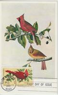 Etats-Unis Carte Maximum Oiseaux 1972 Cardinal 964 - Cartoline Maximum