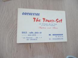 Musique Carte De Visite CDV Orchestre The Tower Set Rythm And Blues Roquemaure Gard M.Bourret - Musique & Instruments
