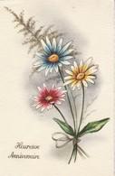 Anniversaire : Heureux Anniversaire :  Bouquet De Fleurs - Marguerites ( Illustrateur à Définir ) - Cumpleaños