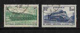 France Timbre De 1937 N°339/40 Oblitérés - Used Stamps
