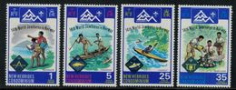 New Hebrides // 1960-1980 // 1975 // 14ème Jamboree Mondiale En Norvège Timbres Neufs** MNH No. Y&T 414-417 - Légende Anglaise