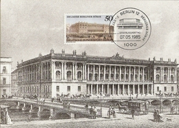 Allemagne Berlin 1985 - CM Berliner Börse - Bourse De Berlin - YT 701 - Maximumkarten (MC)
