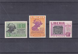 UPU - Liberia - Yvert 306 / 7 + PA 62 ** - NON Dentelés - Globe - - UPU (Universal Postal Union)